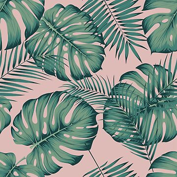 Seamless tropical pattern with leaves monstera by maximgertsen