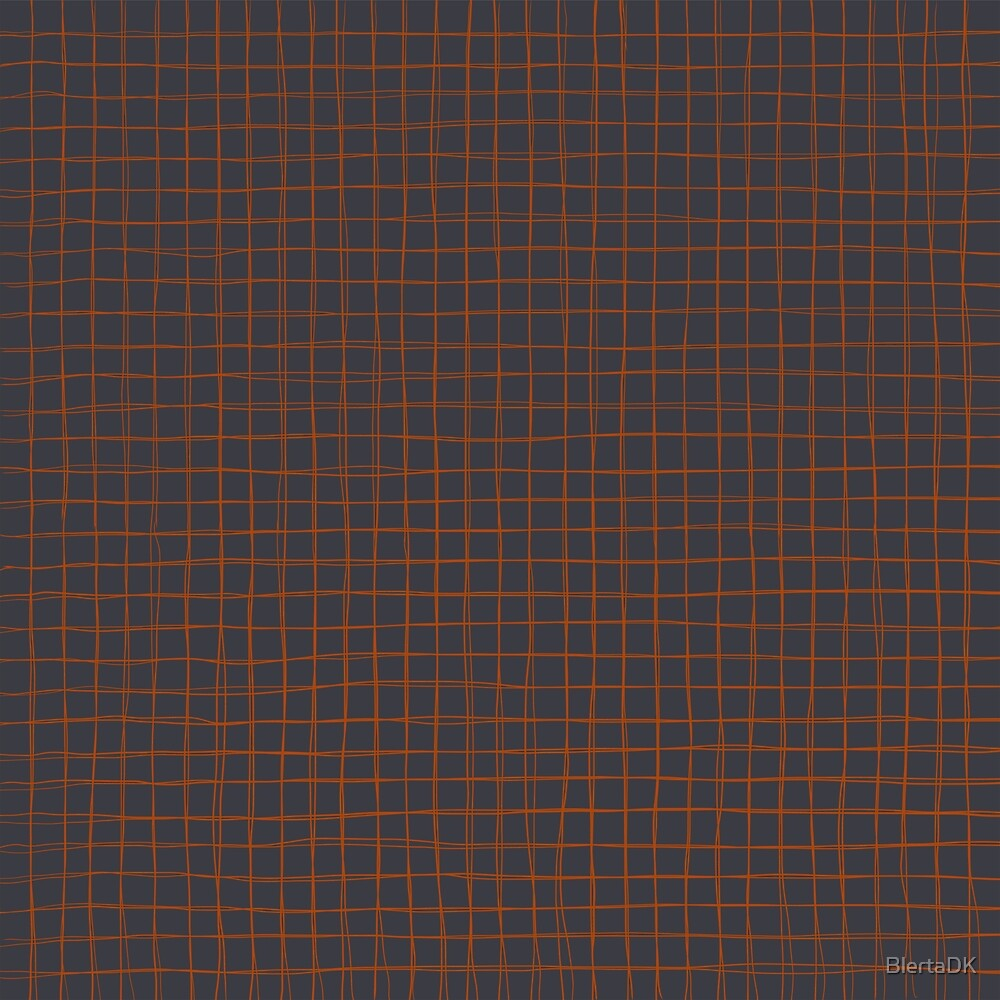 Grey and Rust Thread Pattern by BlertaDK