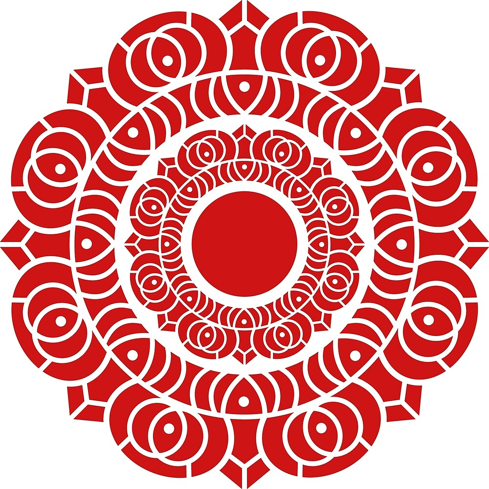 Lotus Design (Red) by Richard Wagner