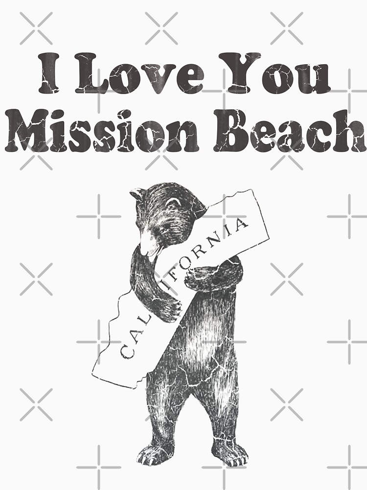 I Love You Mission Beach California by frittata