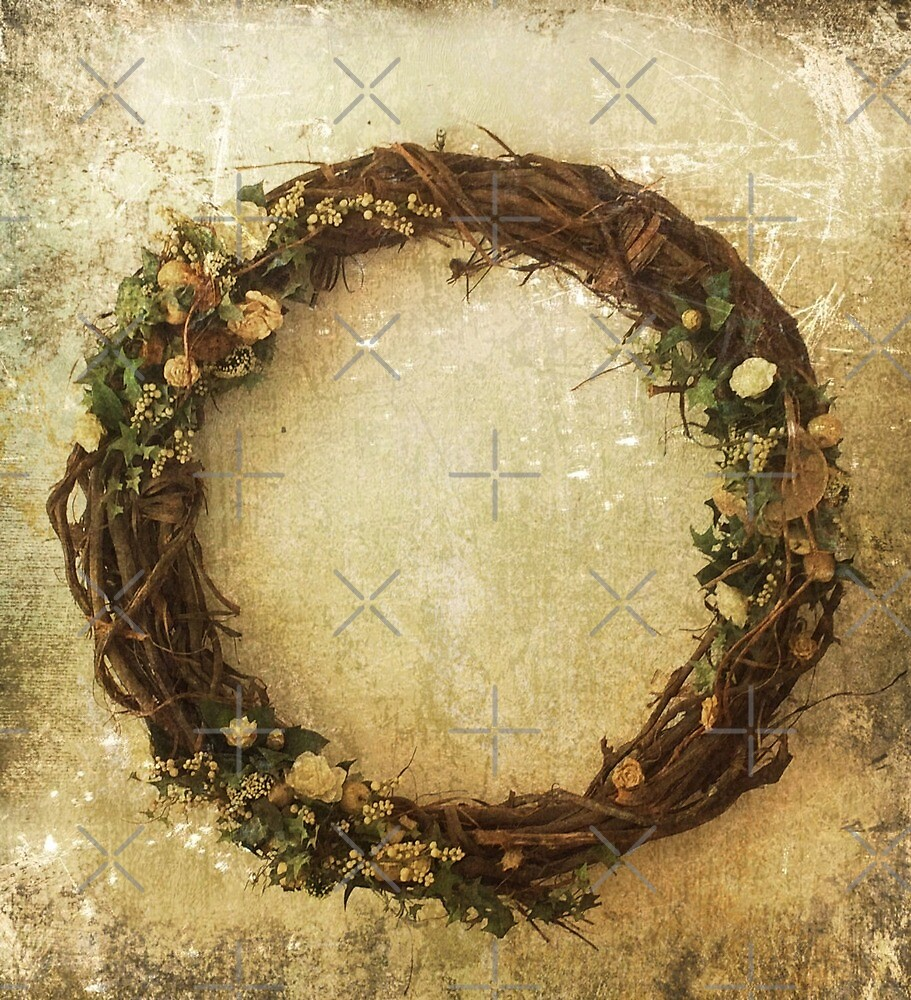 Natural wooden flower circle by CreaKat