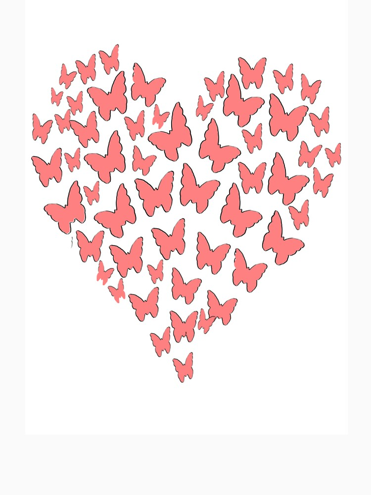 Butterfly Heart Love Love Drawing Graphic Gift Girl Birthday by Johnny1990
