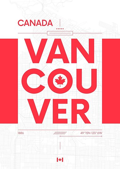 Vancouver travel illustration by maximgertsen