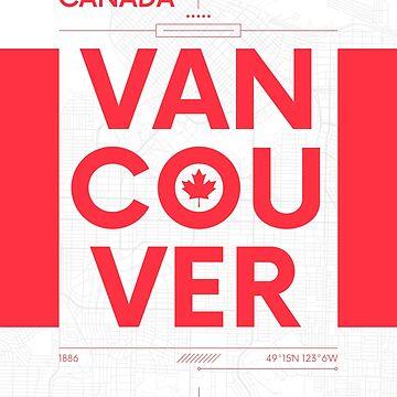 Vancouver travel illustration by maximgertsen
