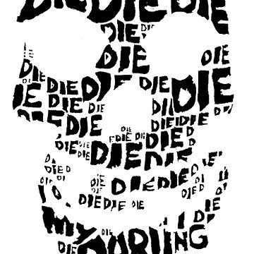 Die Die My Darling Sticker by lancheney007