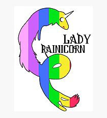 Lady Rainicorn Photographic Print