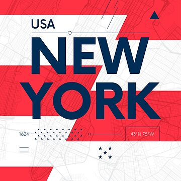 New York travel illustration by maximgertsen