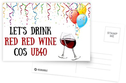 40th Birthday Card Wine Meme Greeting Cards