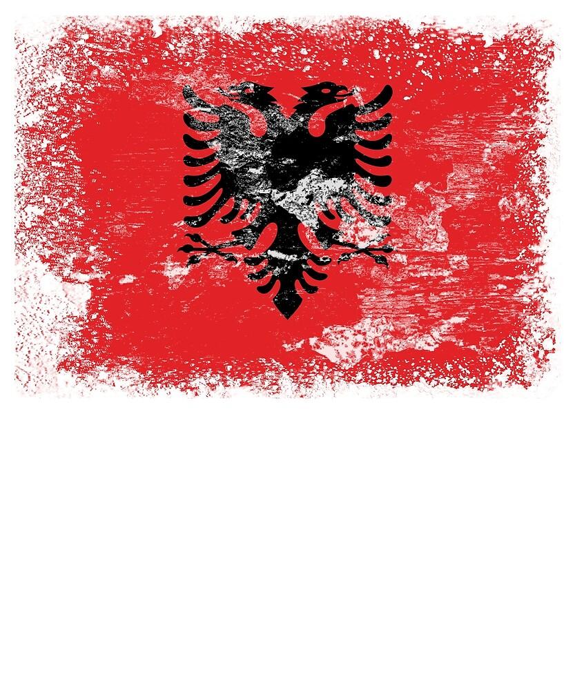 Albania Flag by Christian Strang