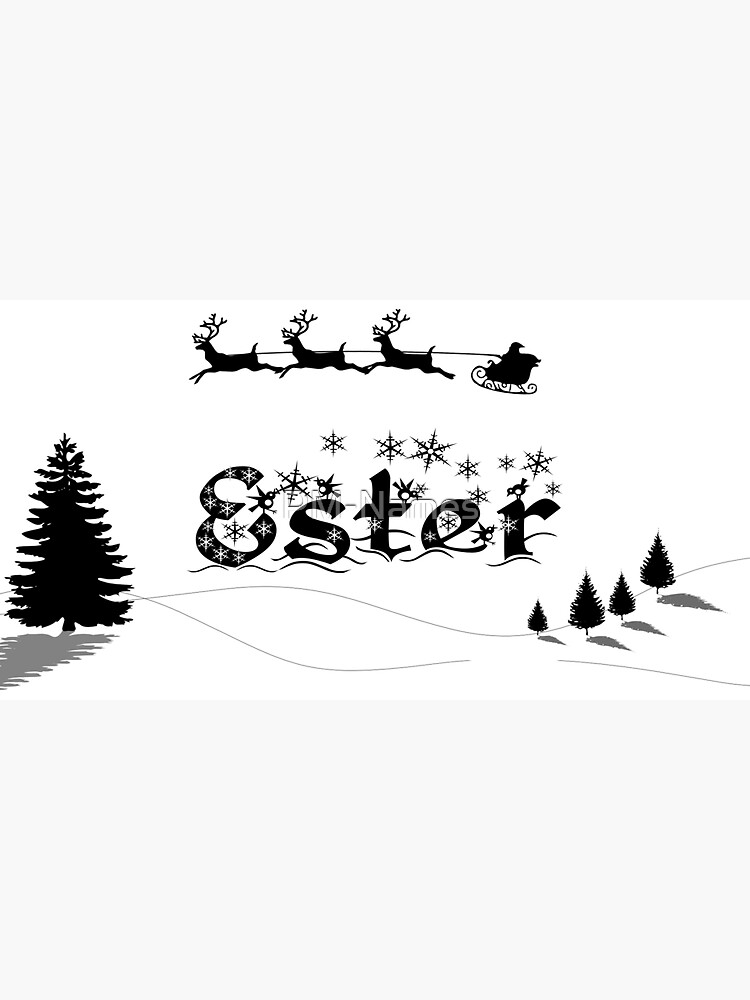 Christmas Name Ester by PM-Names