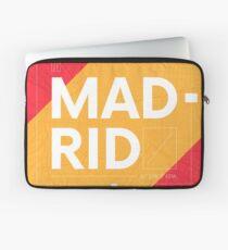 Madrid travel illustration Laptop Sleeve