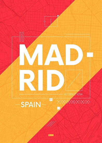 Madrid travel illustration by maximgertsen