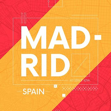 Madrid travel illustration by maximgertsen