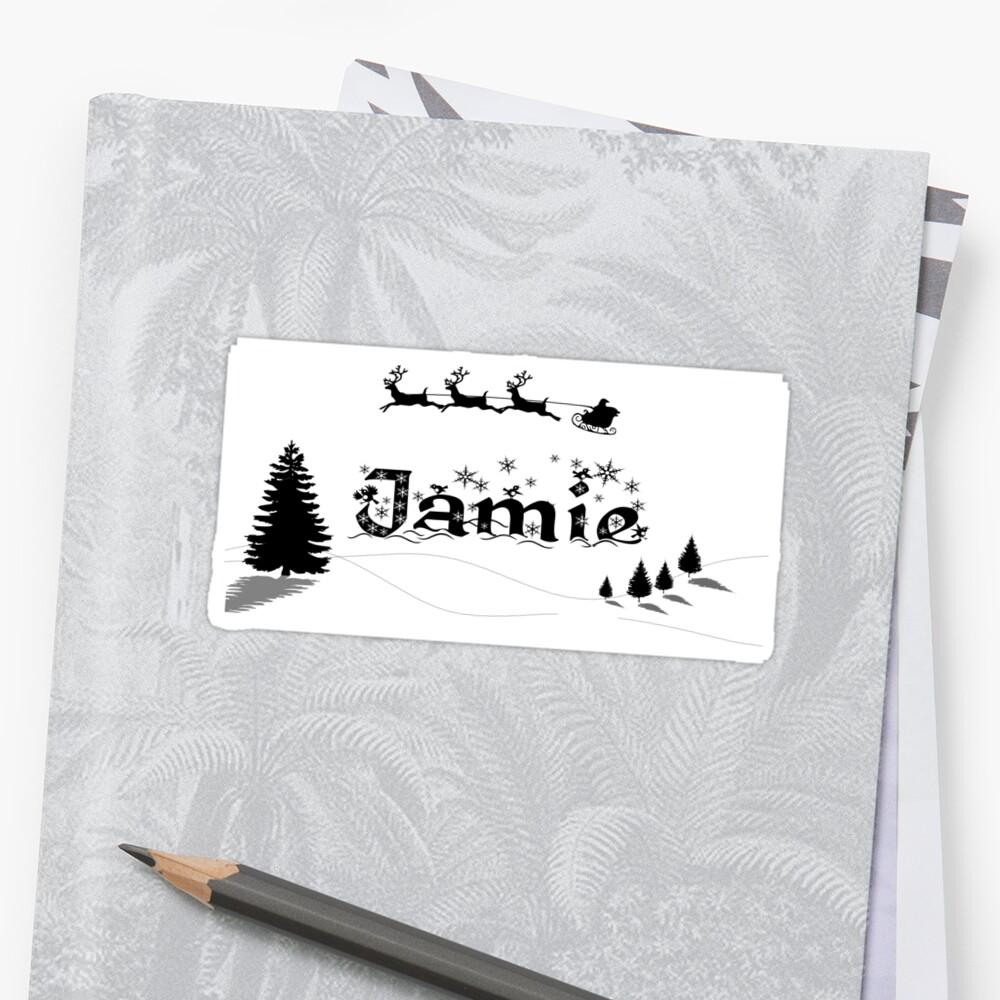 Christmas Name Jamie Sticker Front