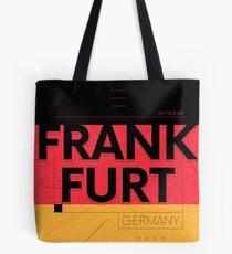Frankfurt travel illustration Tote Bag