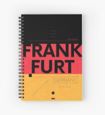 Frankfurt travel illustration Spiral Notebook