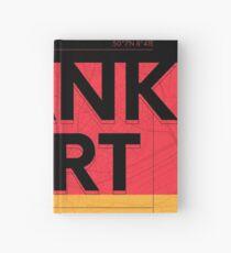 Frankfurt travel illustration Hardcover Journal