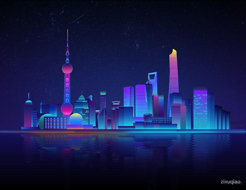 Shanghai City Skyscape Skyline by zixuqiao