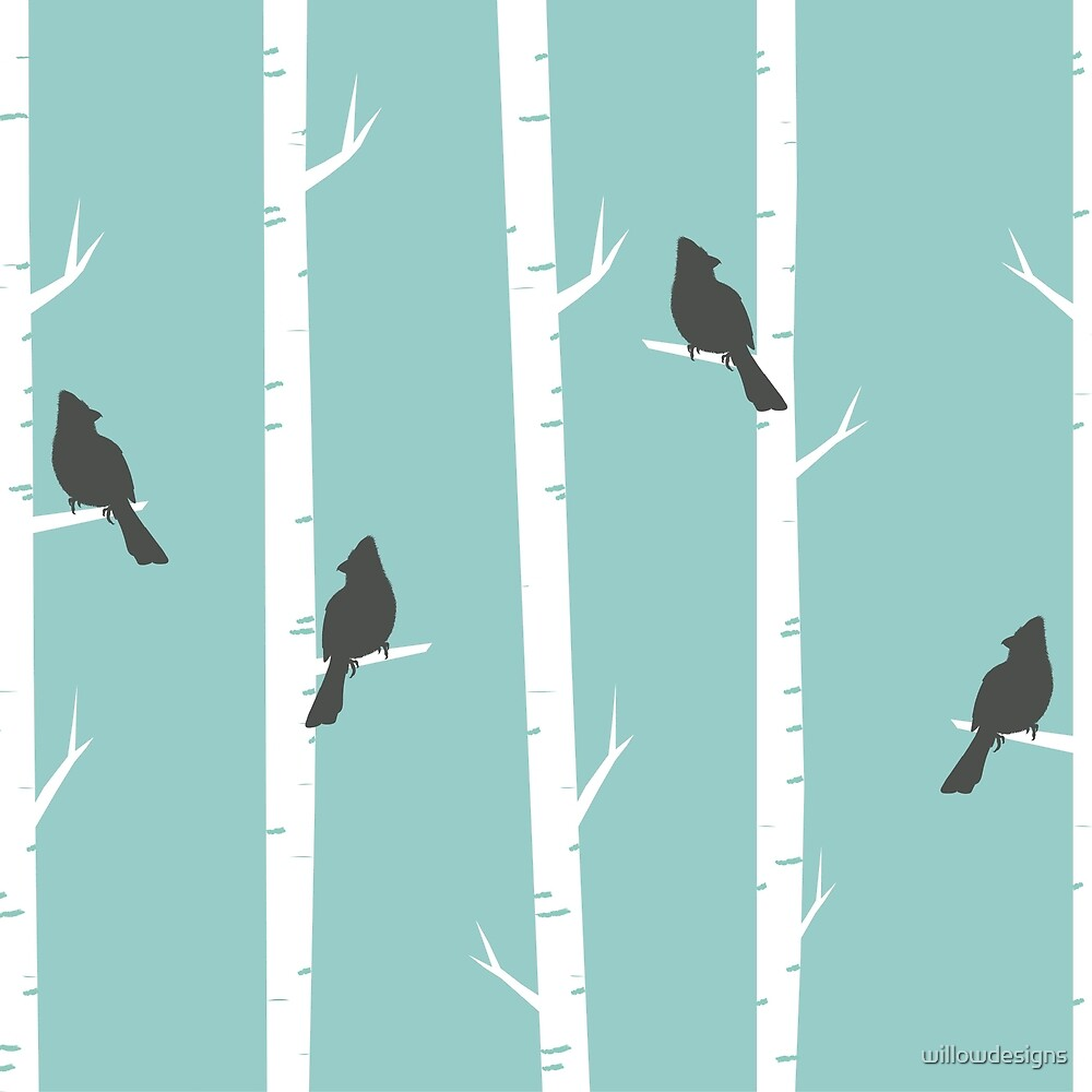 Birds in the Trees - Study 3 by willowdesigns