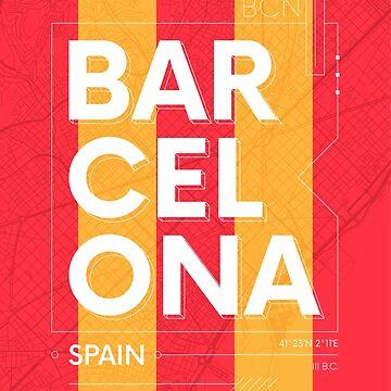 Barcelona travel illustration by maximgertsen