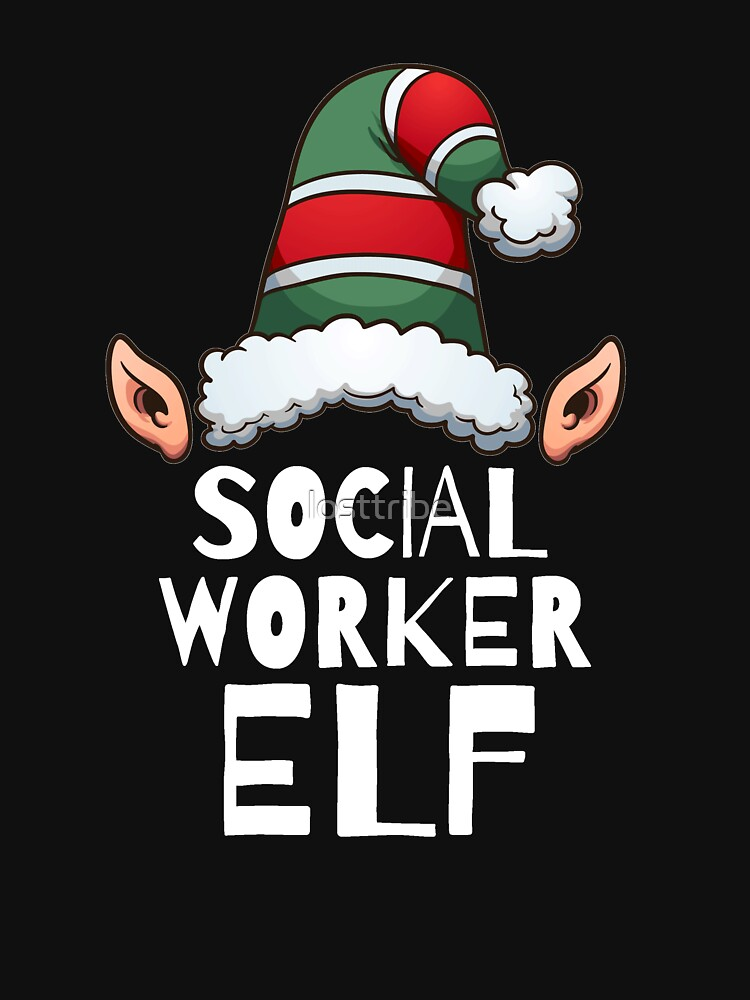 Social Worker Elf Christmas Holidays Xmas Elves by losttribe