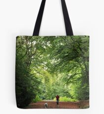 Early Morning Walk with Man's Best Friend(s) Tote Bag