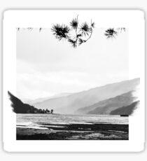 Loch in Scotland _ Photography and sketch Sticker