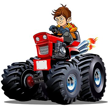 Cartoon Tractor with driver boy.  by Mechanick
