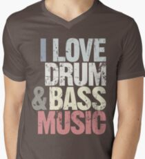 I Love Drum & Bass Lover (Special Edition) Mens V-Neck T-Shirt