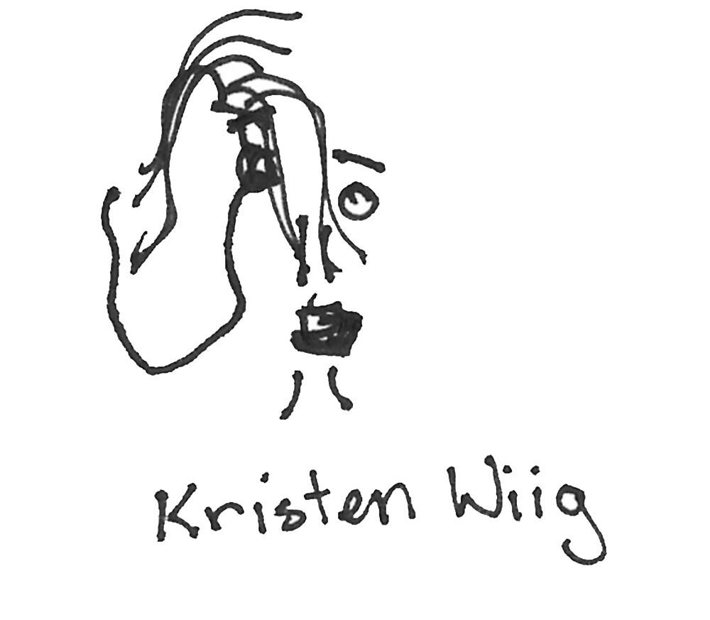 A portrait of Kristen Wiig by Tucker Nightly