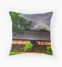Cantilever at Cades Cove Throw Pillow