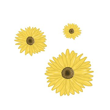 sunflower set (without leaves) by pinkmo