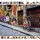 Hosier Lane (widescreen poster on white) by Ray Warren