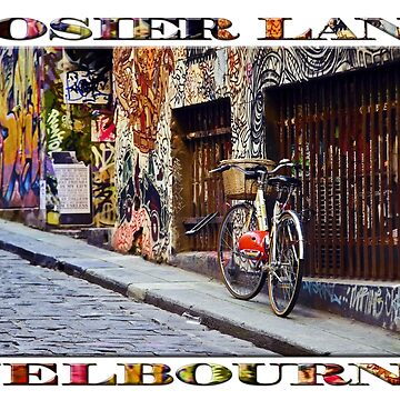 Hosier Lane (widescreen poster on white) by RayW