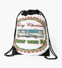 Sh**ter was Full - Circular Design Drawstring Bag