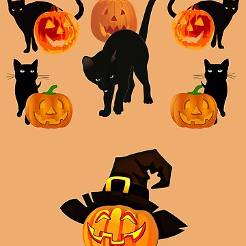 Pumpkins and cats by DAscroft