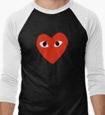 Comme des garçons Red Heart Play Men's Baseball ¾ T-Shirt
