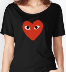 Comme des garçons Red Heart Play Women's Relaxed Fit T-Shirt