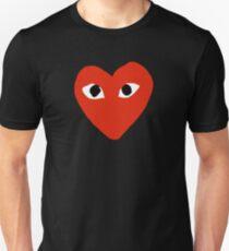 Comme des garçons Red Heart Play Unisex T-Shirt