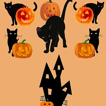 Black cats and haunted house by DAscroft