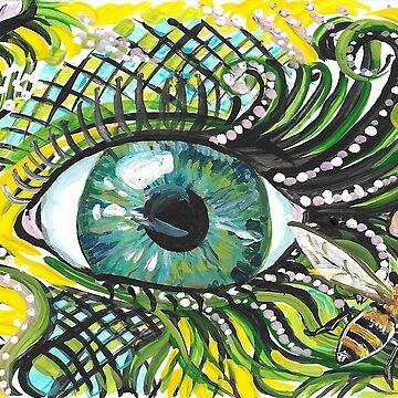 Auge auf Biene von Aryahvayu