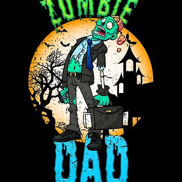 Zombie Dad Halloween Party Design for Dad by vintagetreasure