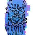 pink and blue doodle panel by TakoraTakora