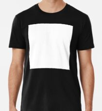 WEISSER PLATZ, tabula rasa, auf SCHWARZ, leer, leer, klar, leer Männer Premium T-Shirts