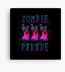 Zombie Parade Canvas Print