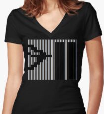 911 Barcode Women's Fitted V-Neck T-Shirt