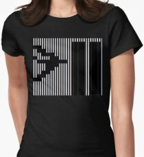 911 Barcode Women's Fitted T-Shirt