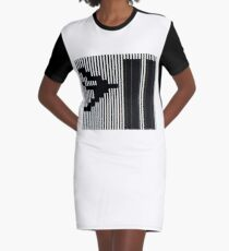 911 Barcode Graphic T-Shirt Dress