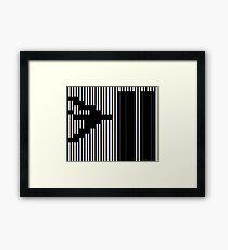 911 Barcode Framed Print
