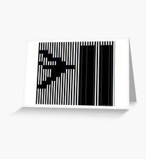 911 Barcode Greeting Card